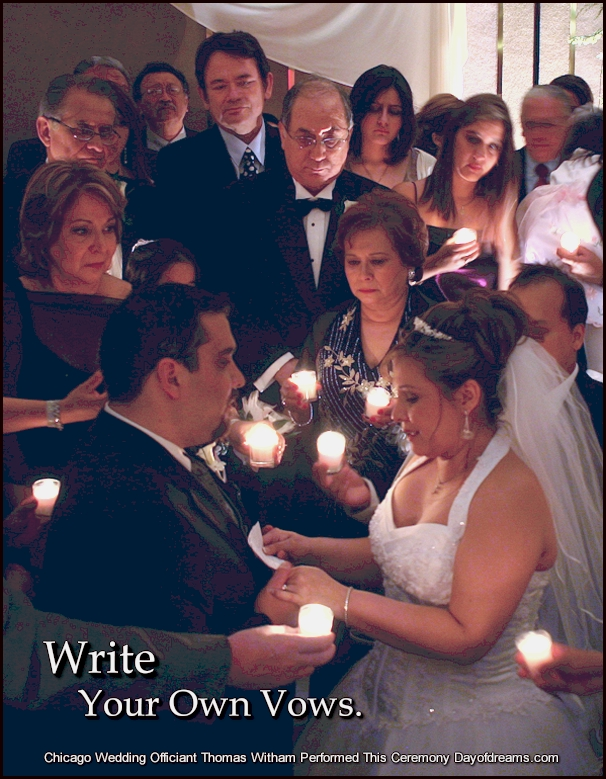 Wedding Ceremony Vows and Candlelight