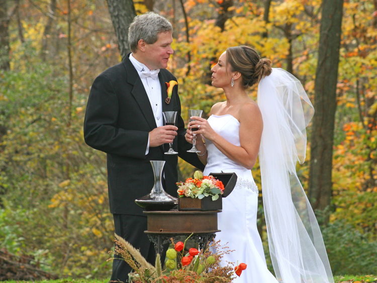 Wine Sharing in a Wedding Ceremony