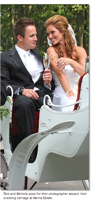 Bride and  Groom in Carriage